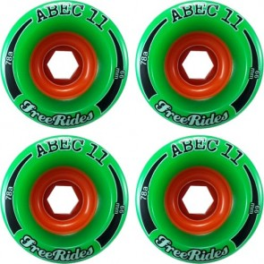 Abec 11 Classic Freerides 72mm Longboard Wheels - Durometer 81a