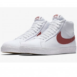 Nike SB Zoom Blazer Mid Canvas White / Cedar Skate Shoes
