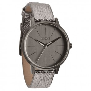 Nixon KENSINGTON Leather Gunmetal Shimmer Watch-A108-1924