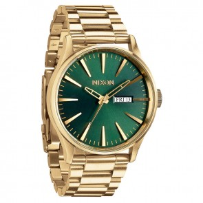 Nixon SENTRY SS Gold with  Green Sunray Watch-A356-1919