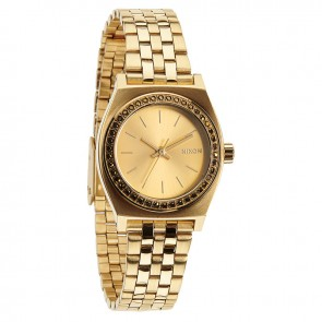 Nixon SMALL TIME TELLER All Gold Crystal Watch-A399-1520