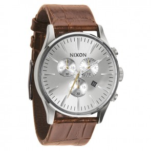 Nixon SENTRY Chrono Leather Saddle Gator Watch-A405-1888