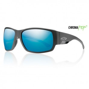 Smith DOCKSIDE Matte Black Chromapop Polarized Blue Mirror Sunglasses
