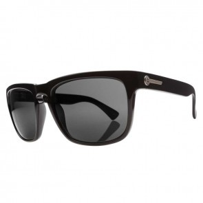 Electric KNOXVILLE Gloss Black Melanin Grey Polarized Level 1 Sunglasses