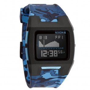 Nixon LODOWN II Black with  Blue Camo Watch-A289-1628