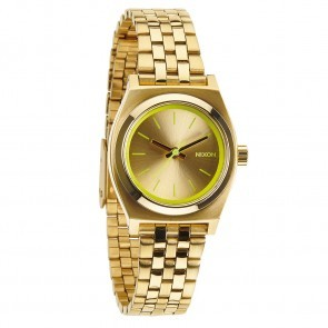 Nixon SMALL TIME TELLER Gold with  Neon Yellow Watch-A399-1618