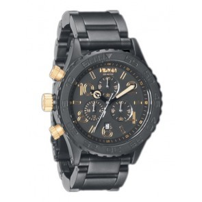 Nixon 42-20 Chrono Matte Black Gold Watch-A037-1041