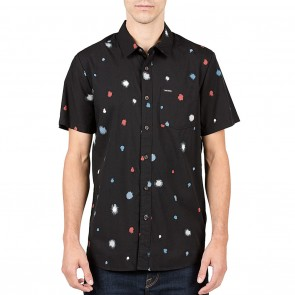 Volcom Bleed Dot Mens Shirt - Black