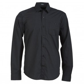 Volcom Everett Solid LS Mens Shirt - Black