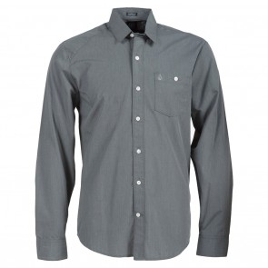 Volcom Everett Solid LS Mens Shirt - Dark Grey