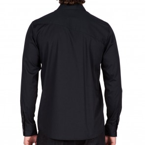 Volcom EVERETT SOLID Long Sleeve Mens Shirt - Black