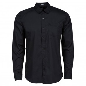 Volcom EVERETT SOLID Long Sleeve Mens Shirt Black
