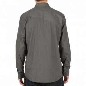 Volcom EVERETT SOLID Long Sleeve Mens Shirt - Asphalt Black