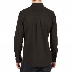 Volcom OXFORD STRETCH Long Sleeve Mens Shirt - Black