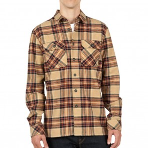 Volcom JASPER Long Sleeve Flannel Mens Shirt - Gravel