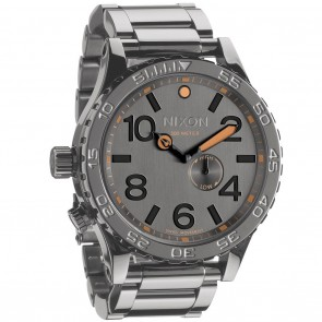 Nixon 51-30 Tide Steel Gray Watch