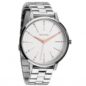 Nixon KENSINGTON Silver / Champagne Crystal Watch
