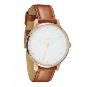 Nixon KENSINGTON Leather Rose Gold White Watch-A108-1045