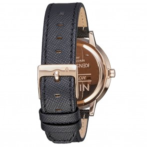 Nixon KENSINGTON Leather Rose Gold / Black Watch