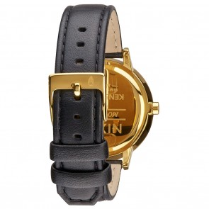Nixon KENSINGTON Leather Gold with White with Black Watch