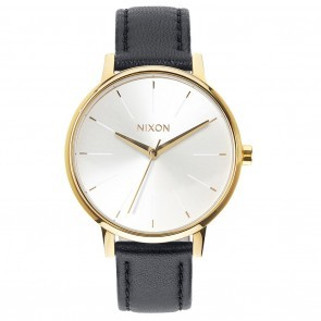 Nixon KENSINGTON Leather Gold with  White with  Black Watch-A108-1964