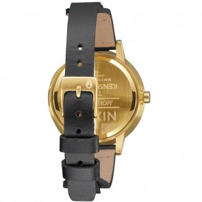 Nixon KENSINGTON Leather Gold with Bridle Watch