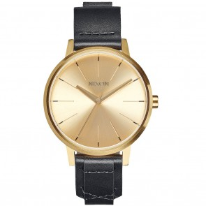 Nixon KENSINGTON Leather Watch in Gold with Bridle.