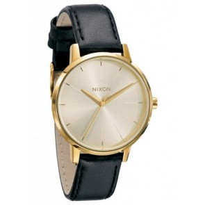 Nixon KENSINGTON Leather Gold Watch-A108-501