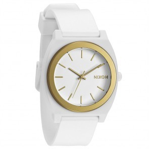 Nixon TIME TELLER Plastic White with  Gold Ano Watch-A119-1297
