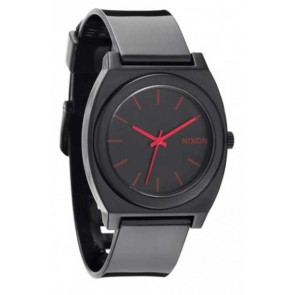 Nixon TIME TELLER Plastic  Black  with   Bright  Pink  Watch- A119-480