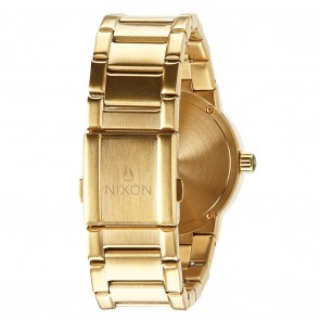 Nixon CANNON Gold with Green Sunray Watch