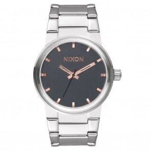 Nixon Cannon Grey / Rose Gold Watch