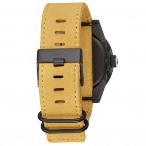 Nixon CORPORAL Black with Goldenrod Watch