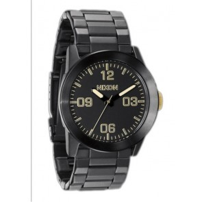 Nixon PRIVATE SS Matte Black Gold Watch-A276-1041