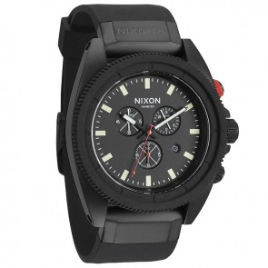 Nixon ROVER Chrono All Black / Red Watch