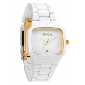 Nixon SMALL PLAYER All White Gold Watch-A300-1035