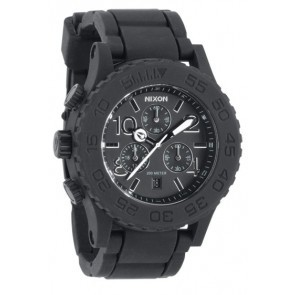 Nixon RUBBER 42-20 Chrono Black Watch-A309-000