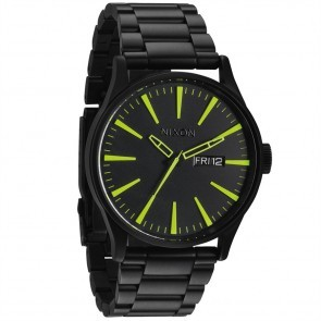 Nixon SENTRY SS All Black with  Lum Watch-A356-1256