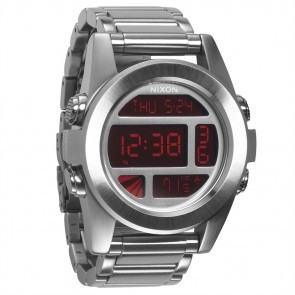 Nixon UNIT SS Silver Red Watch-A360-1263