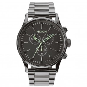 Nixon Sentry Chrono Polished Gunmetal / Lum Watch