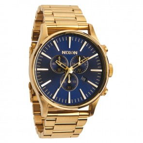 Nixon Sentry Chrono Gold / Blue Sunray Watch