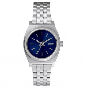 Nixon Small Time Teller All Silver / Cobalt Watch