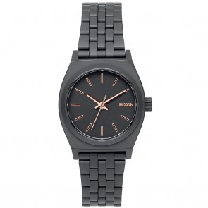 Nixon SMALL TIME TELLER All Black / Rose Gold Watch