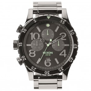 Nixon 48-20 Chrono Polished Gunmetal / Lum Watch