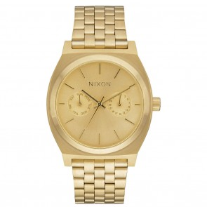 Nixon TIME TELLER Deluxe All Gold Watch