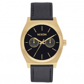 Nixon TIME TELLER Deluxe Leather Gold / Black Watch