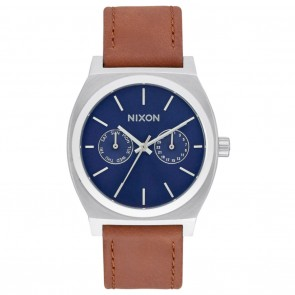 Nixon TIME TELLER Deluxe Leather Navy Sunray / Brown Watch