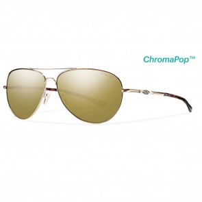 Smith Audible Gold / ChromaPop Polarized Bronze Mirror Sunglasses