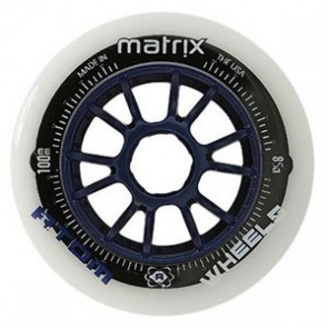 Atom MATRIX Inline Speed Wheels - 100mm NAT / BLUE 85A