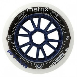 Atom MATRIX Inline Speed Wheels - 110mm NAT / BLUE 85A